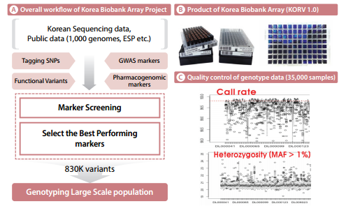 Overall workflow, product, and quality control of the Korea Biobank Array